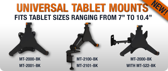 Universal tablet mounts